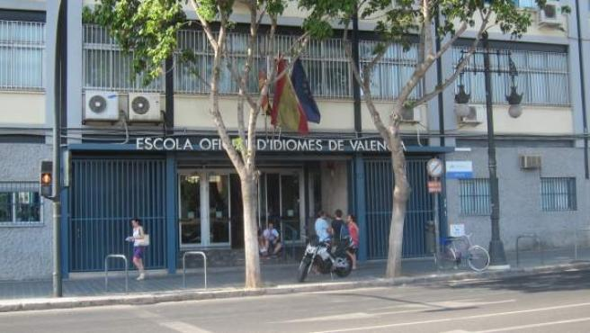 Entrada de la Escuela Oficial de Idiomas de Valencia EOI Valencia