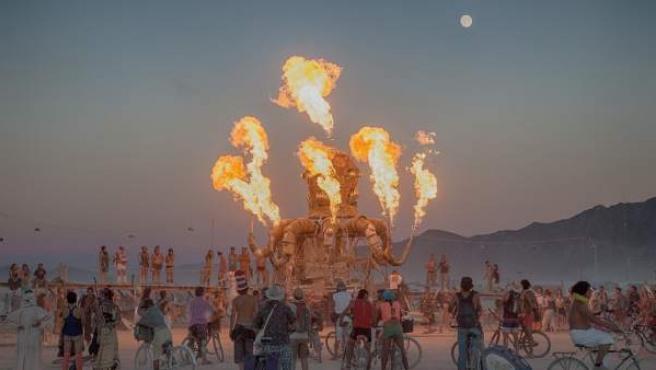 Ua imagen de archivo del Burning Man Festival.