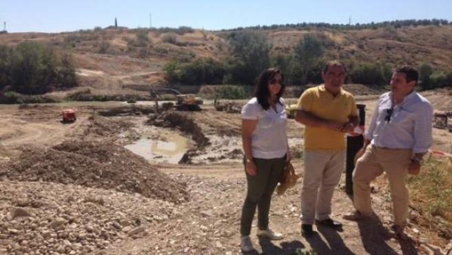 Visita a las obras del puente sobre el vado inundable de Campillo del Río.