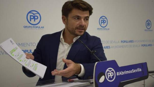 El portavoz del PP en el Ayuntamiento de Sevilla, Beltrán Pérez