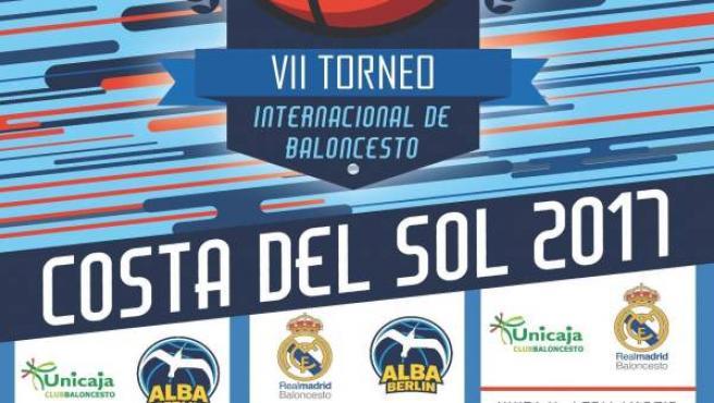 Cartel torneo costa del sol baloncesto 2017 unicaja alba berlín real madrid