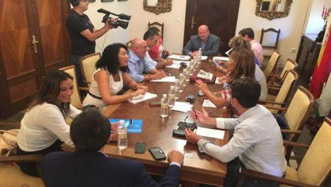 Reunión de coordinación del equipo de gobierno del Ayuntamiento de Jaén.