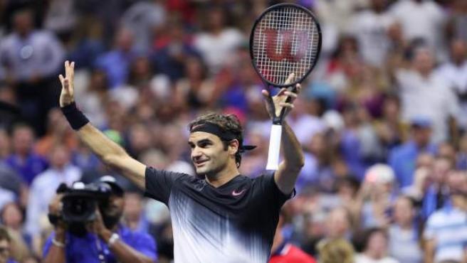 Roger Federer gana en el US Open