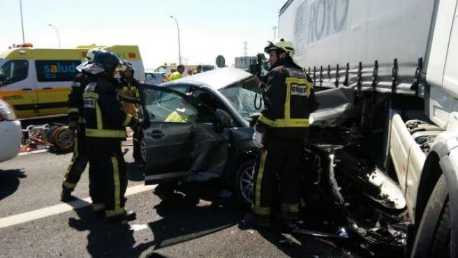 Accidente mortal en la carretera N-122, en Magallón (Zaragoza)