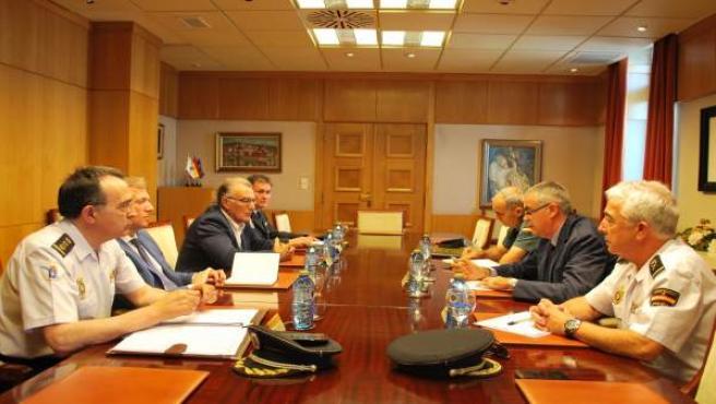 Reunión entre la Delegación del Gobierno, la Xunta y la Fegamp