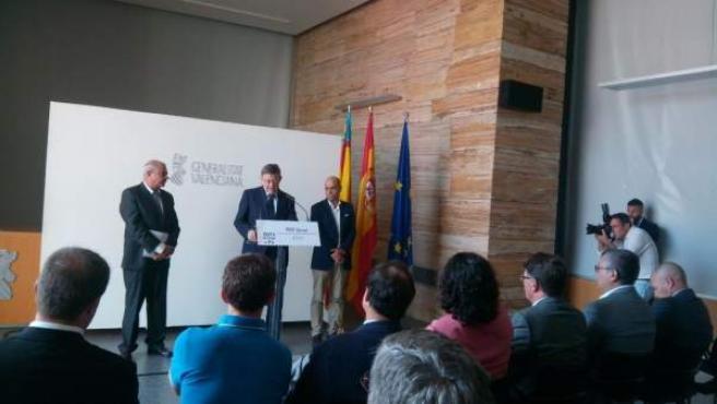 Ximo Puig comparece este martes para hablar de la Volvo