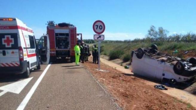 Accidente de tráfico en Villafranca de los Barros