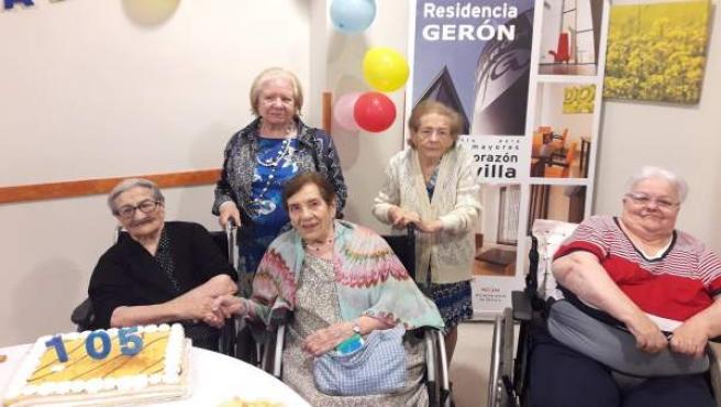 Inés Franco celebra su 105 cumpleaños.