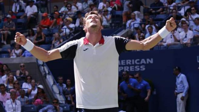 Pablo Carreño Busta celebra la victoria conseguida ante el argentino Diego Schwartzman.