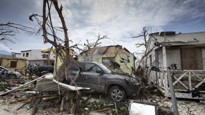 Vista de la devastación ocasionada por el huracán Irma en Philipsburg, en la isla de San Martín.