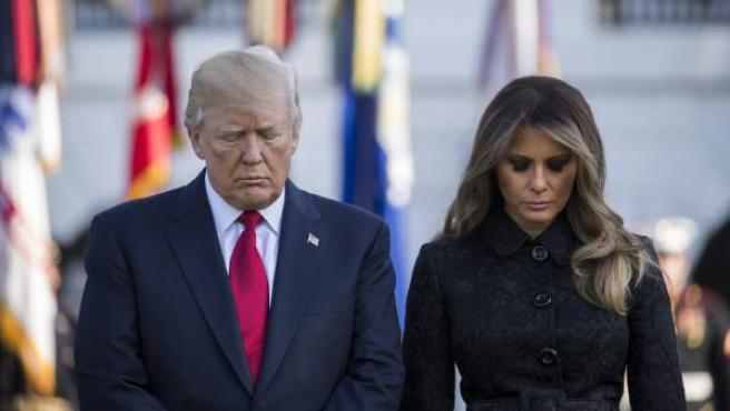 Donald Trump y Melania encabezan el homenaje a las víctimas 16 años después de la tragedia.