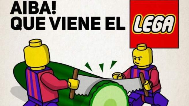 Cartel lanzado por el Eibar para anunciar su partido de Liga ante el Leganés.
