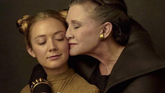 Billie Lourd, la hija de Carrie Fisher, hizo el casting para Rey en 'El despertar de la Fuerza'