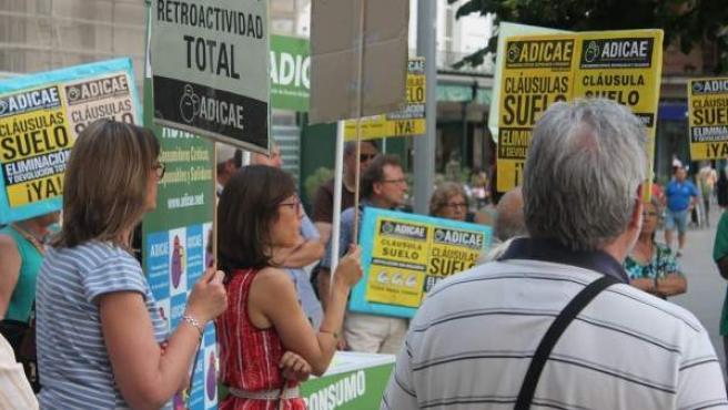 Protesta de afectados por la cláusula suelo.