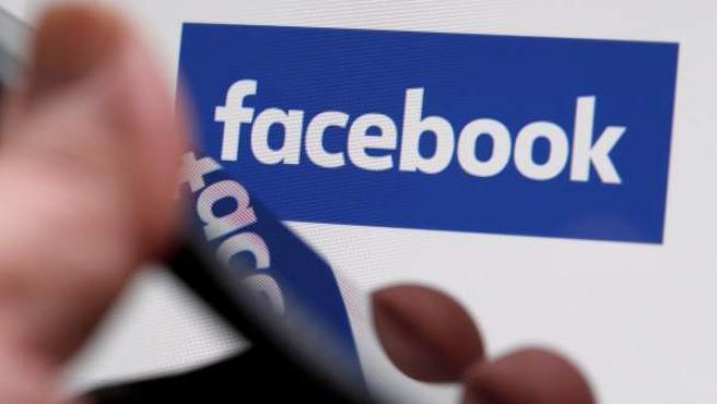 Logo de la red social Facebook.