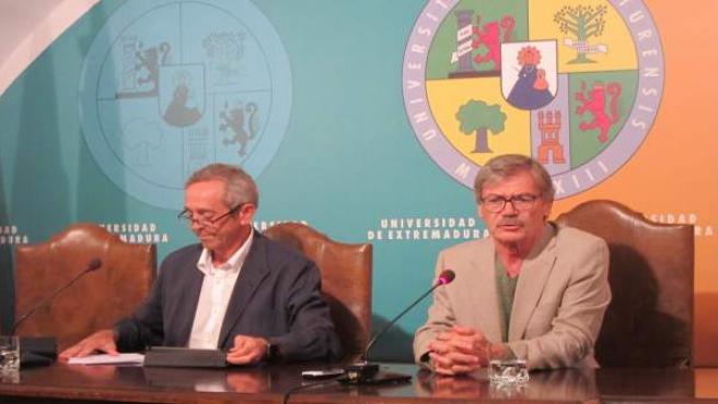 Ciro Pérez y José Luis Gurría, vicerrectores de la UEx