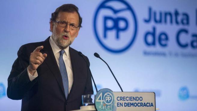 Mariano Rajoy preside la Junta Directiva del PP de Cataluña.