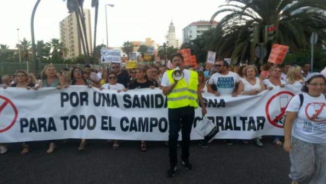 Manifestación por la sanidad en Algeciras