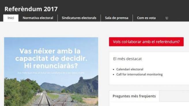 Web sobre el referéndum del 1-o.