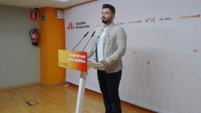 El diputado de ERC en el Congreso Gabriel Rufián.