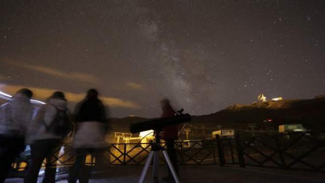 Observación astronómica en Sierra Nevada