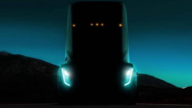 La única imagen que se conoce del camión de Tesla y que Musk dio a conocer durante una charla TED.