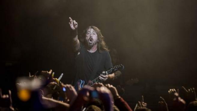 Dave Grohl, líder de Foo Fighters, en el concierto en Barcelona el pasado domingo.