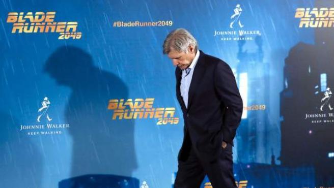 Harrison Ford en la prsentación de 'Blade Runner 2049' en Madrid.