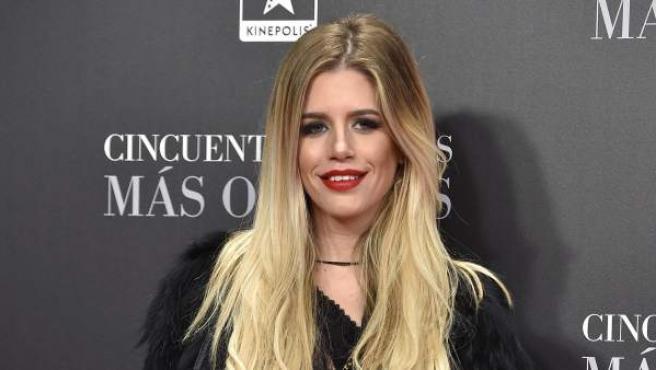 La modelo Celia Fuentes durante la 'premiere' de 'Cincuenta sombras más oscuras'.