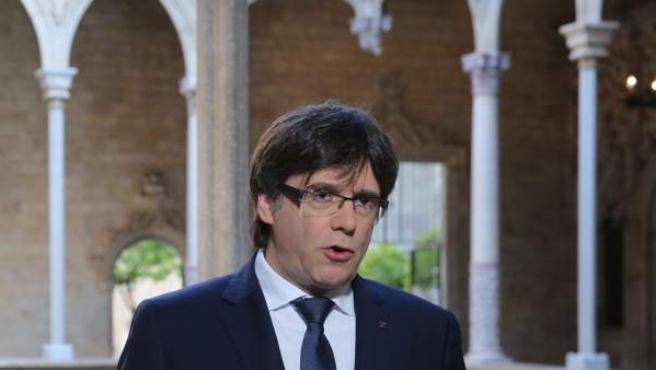 Carles Puigdemont, presidente de la Generalitat.