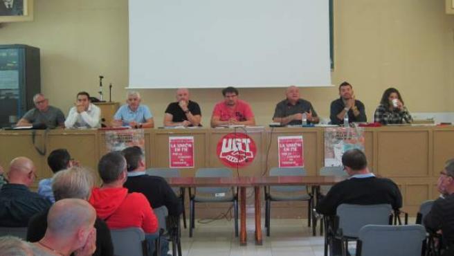 Reunión de la asamblea de trabajadores de autobús urbano Grupo Avanza