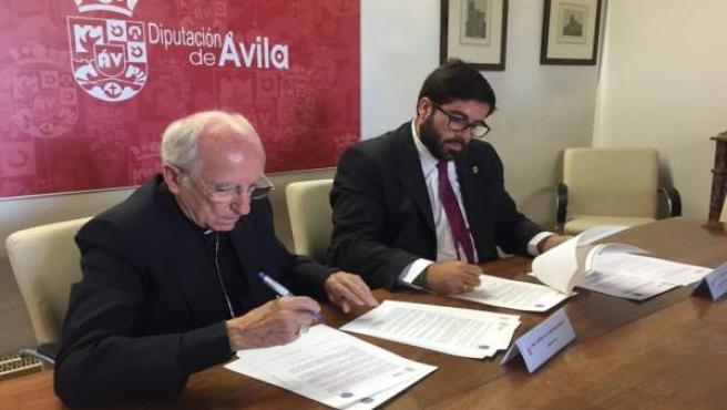 Ávila: El Obispo Y El Presidente De La Diputación