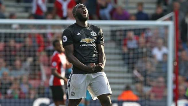 El delantero centro belga del Manchester United Romelu Lukaku, en el último partido de su equipo, ante el Southampton.