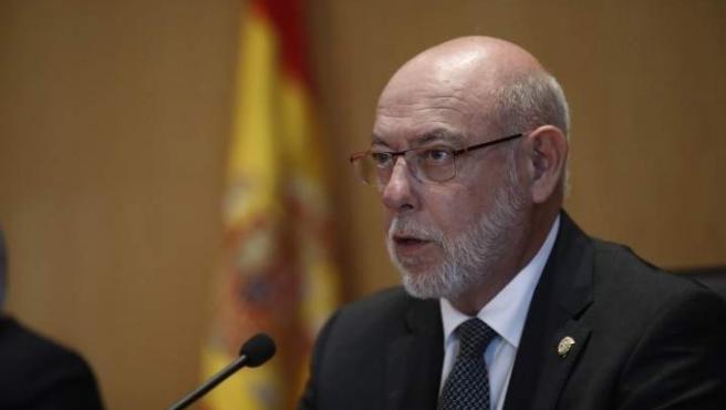 El fiscal general del Estado, José Manuel Maza, en rueda de prensa.