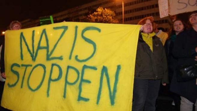 Protestas por la entrada en el Reichstag de la ultraderecha.