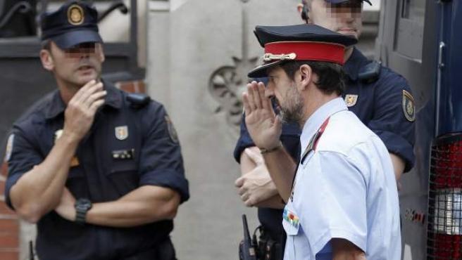 Ferran López, comisario superior de Coordinación territorial de los Mossos, a su llegada a la reunión de coordinación de los cuerpos de seguridad sobre el 1-O.