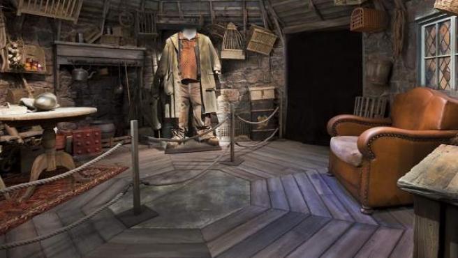 La cabaña de Hagrid en la exposición oficial de Harry Potter.
