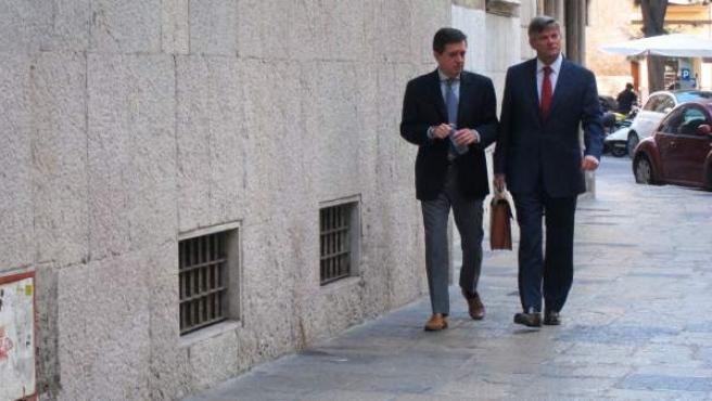 Jaume Matas y su abogado, José Zaforteza.