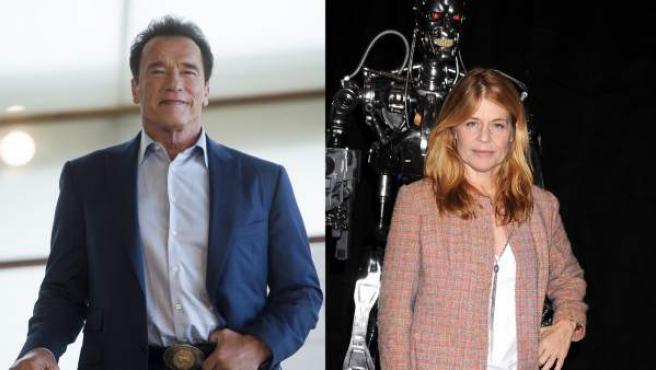 Los actores Arnold Schwarzenegger y Linda Hamilton, en imágenes recientes.