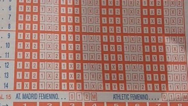 Imagen de la Quiniela con un partido de la Liga Iberdrola.