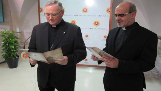 José Manuel Lorca Planes y Juan Tudela, en la rueda de prensa