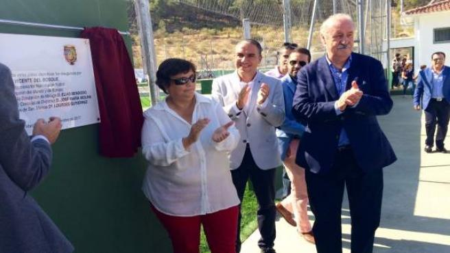 Polideportivo cuevas san marcos presidente diputación vicente del bosque málaga