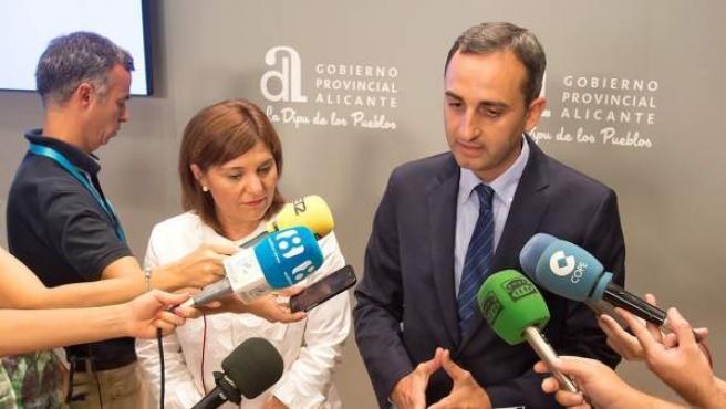 Isabel Bonig y César Sánchez, este viernes