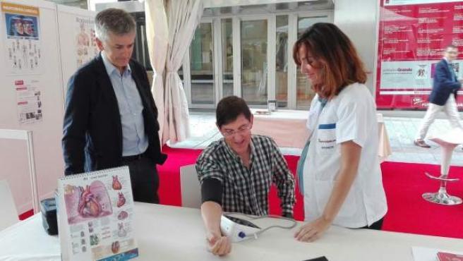 Villegas en las actividades organizadas en Murcia por la Sociedad del Corazón