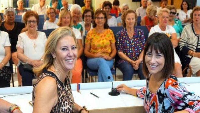 Carolina España y Ruth Sarabia (PP)