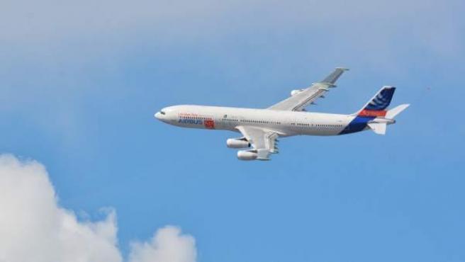 Imagen aérea del Airbus BLADE con ala laminar.