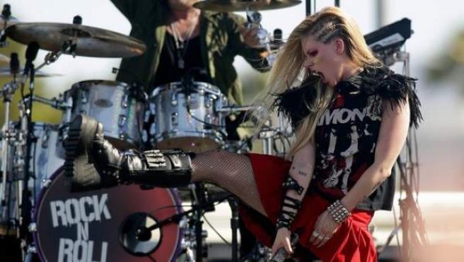 Avril Lavigne, en una actuación en el iHeartRadio Music Festival.