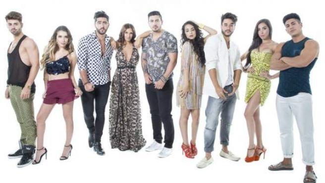 Los nuevos participantes de 'MTV Super Shore' en su edición en Rímini.