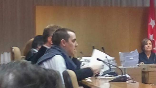 Imagen del presunto descuartizador de Majadahonda, en el juicio.