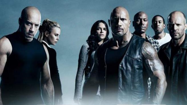 Los protagonistas de 'Fast & Furious 8' en una imagen promocional